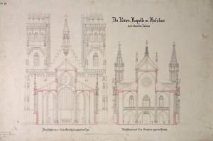 Ausbauplan Heideloffs von 1857, Durchschnitt