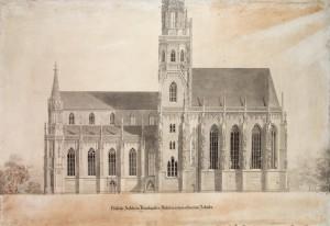 Ausbauplan Heideloffs von 1857, südliche Ansicht