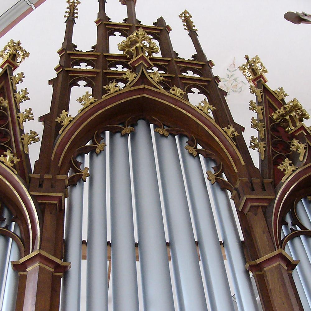 Prospekt der Schlimbach Orgel